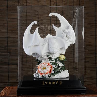 富贵临门,陈为坦陶瓷作品,礼品定做批发,动物艺术